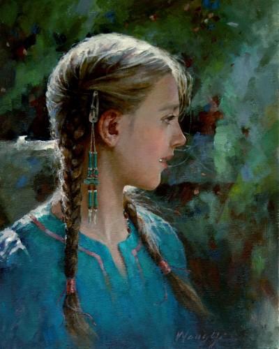A girl (20″x 16″)