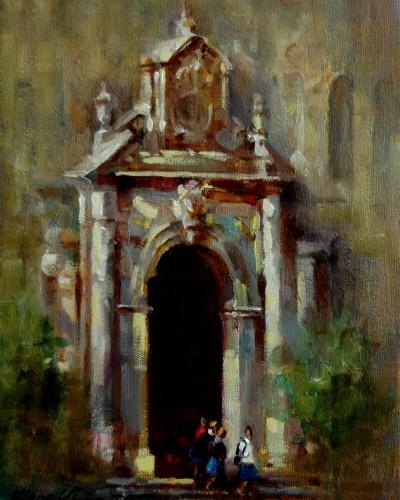 Church Front (12″x 9″)