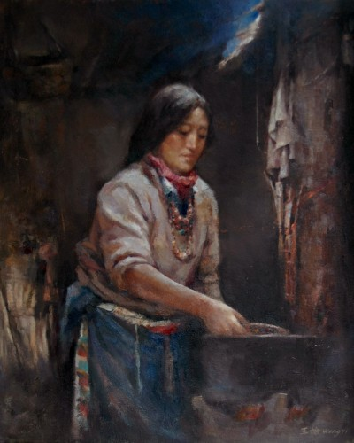 Cooking (24″x 20″)