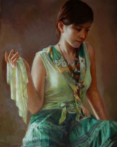 Green dress (24″x 18″)