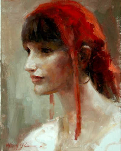 Red scarf (11″x 14″)