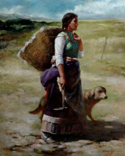 Tibet girl (24″x 20″)