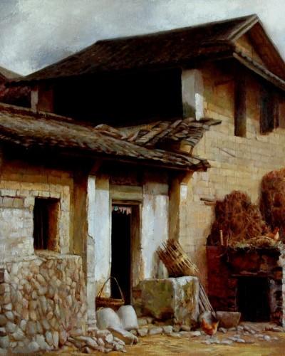 Village (24″x 30″)